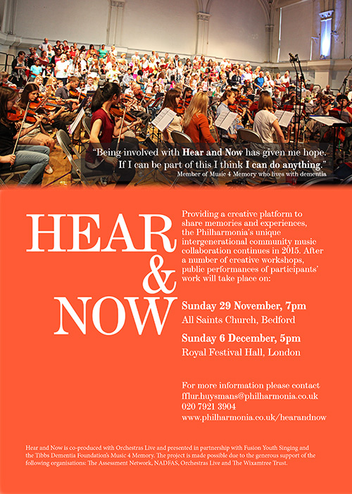 The Philharmonia Orchestra and Orchestra's Live – The Hear and Now Project